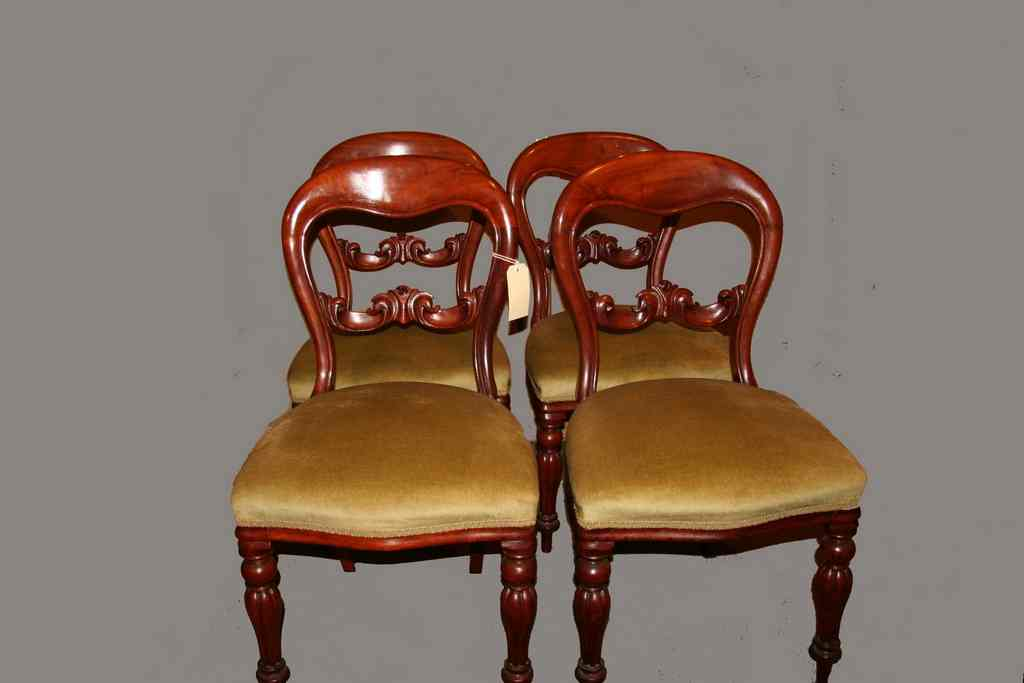 Top quality set of four Victorian antique chairs ... - Top Quality Set Of Four Victorian Antique Chairs In Good Order