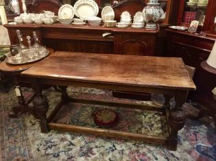 Antique oak farmhouse table