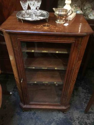 Antique_burr walnut_music_cabinet