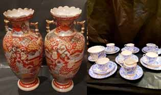 Antique porcelain and chinaware